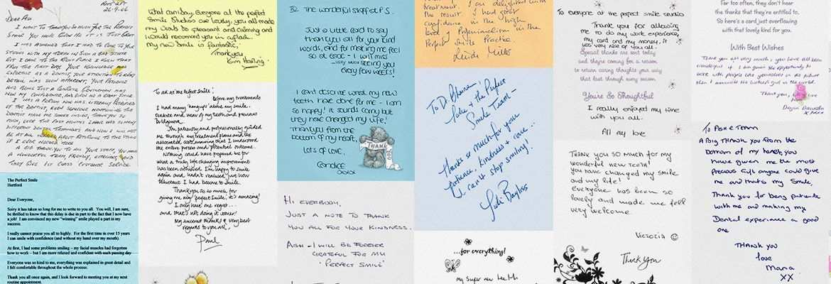 Letter of Thanks - The Perfect Smile