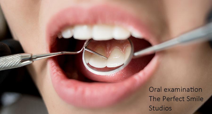 Dental examination at The Perfect Smile Studios